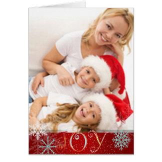 PixDezines joy, snowflakes/DIY color Greeting Card