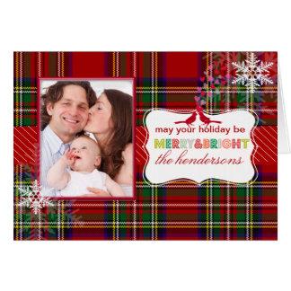 PixDezines joy, stewart tartan Greeting Card