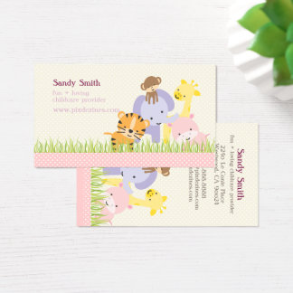PixDezines Jungle of Fun Daycare Business Card