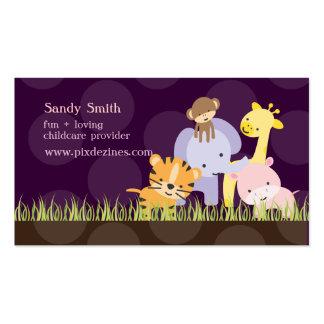 PixDezines Jungle of Fun Daycare, DIY colors Business Cards