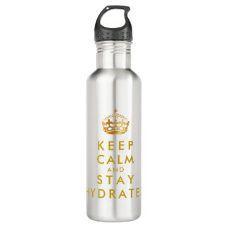 PixDezines KEEP CALM and STAY HYDRATED 710 Ml Water Bottle