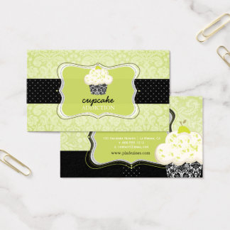 PixDezines Keylime cupcake/pâtisserie Business Card