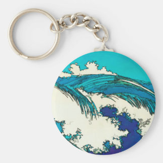 PixDezines konen uehara ocean waves, 上原 Keychain