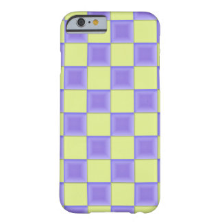 PixDezines Lavender Purple+Green Checkers Barely There iPhone 6 Case