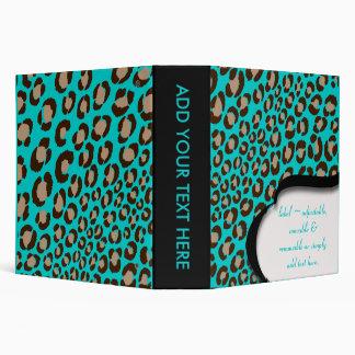 PixDezines Leopard print binders/Custom Color Binder