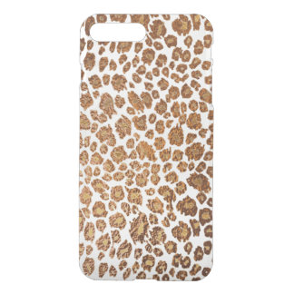 PixDezines Leopard Print/Faux Copper/DIY Bckgrnd iPhone 8 Plus/7 Plus Case