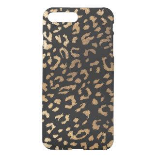 PixDezines Leopard Print/Faux Gold/DIY Background iPhone 8 Plus/7 Plus Case