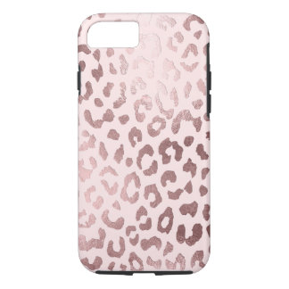 PixDezines Leopard Print/Faux Rose Gold Case-Mate iPhone Case