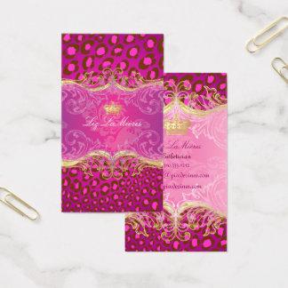 PixDezines Leopard spots, fuschia Business Card