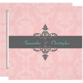 PixDezines Liliana Damask/DIY Colors/Pink/Grey Card