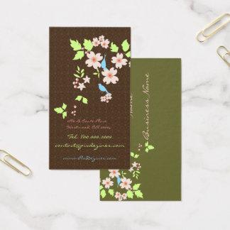 PixDezines love birds+dogwood branch/diy colors Business Card