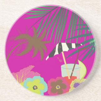 PixDezines Mai Tai/zebra umbrella Coaster