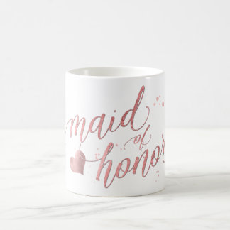 PixDezines Maid of Honor/Faux Rose Gold/Fun Script Coffee Mug