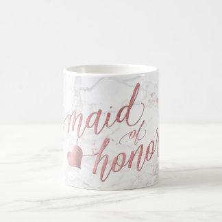 PixDezines Maid of Honor/Faux Rose Gold/Fun Script Coffee Mug
