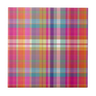 PixDezines malibu plaid Tile