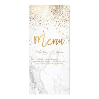 PixDezines Marble/Confetti/Shine Menu/Faux Gold Custom Rack Card