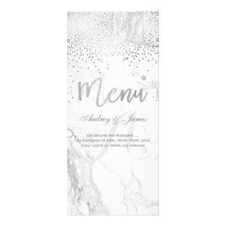 PixDezines Marble/Confetti/Shine Menu/Faux Silver Rack Card