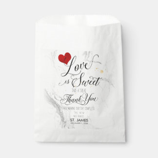 PixDezines MARBLE LOVE IS SWEET+HEART Favour Bag