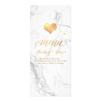 PixDezines Marble/Shine Menu/Faux Gold Rack Card