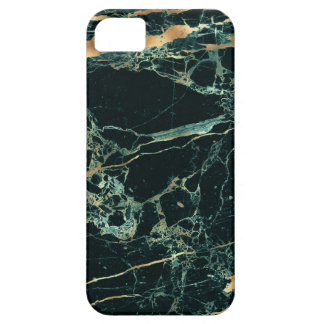 PixDezines Marble, Teal Green + Gold Veins Case For The iPhone 5