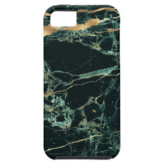 PixDezines Marble, Teal Green + Gold Veins iPhone 5 Cover