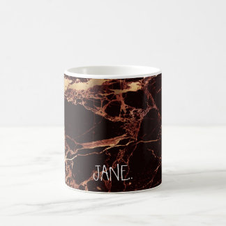 PixDezines MASALA RED MARBLE FAUX GOLD VEINS Coffee Mug