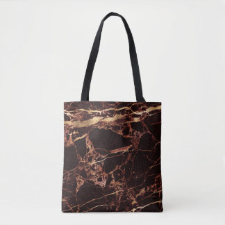 PixDezines MASALA RED MARBLE+FAUX GOLD VEINS Tote Bag