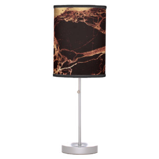 PixDezines MASALA RED MARBLE+GOLD VEINS Table Lamp