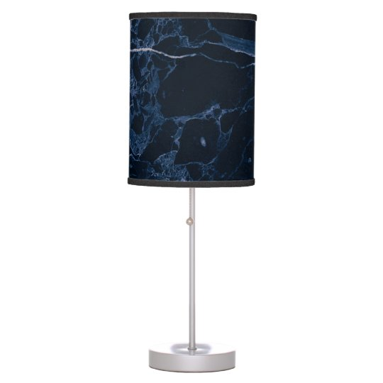 PixDezines MIDNIGHT BLUE MARBLE Desk Lamps