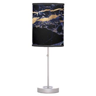 PixDezines MIDNIGHT BLUE MARBLE+GOLD VEINS Table Lamp