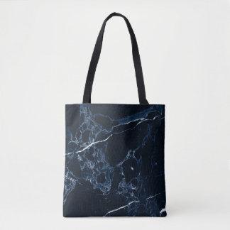 PixDezines MIDNIGHT BLUE MARBLE Tote Bag