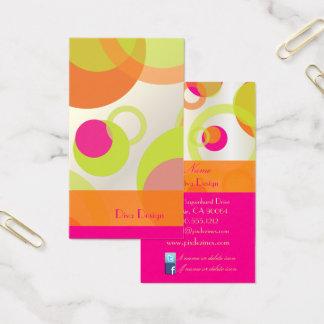 PixDezines Mod Bubbles / Retro Syle + Colors Business Card