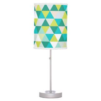 PixDezines mod geometric pattern/teal green Table Lamp