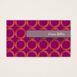 PixDezines Mod Rings {customizable background} Business Card