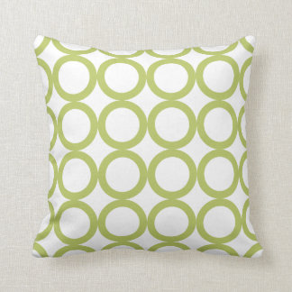 PixDezines mod rings/moss green/diy background Throw Pillow