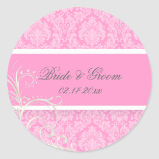 PixDezines moiré damask wedding stickers