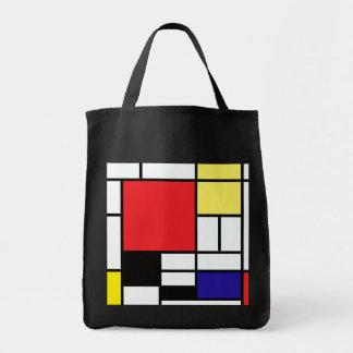 PixDezines mondrian/abstract Grocery Tote Bag