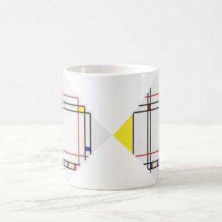 PixDezines Mondrian, Minimalist Coffee Mug