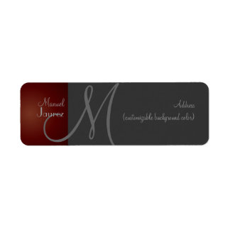 PixDezines Monogram Label en retro color Return Address Label