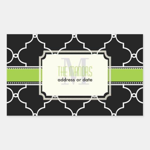 PixDezines moroccan trellis/DIY colors Rectangle Sticker