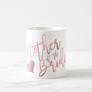 PixDezines Mother of Bride/Faux Rose Gold Script Coffee Mug
