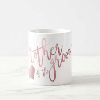 PixDezines Mother of Groom/Faux Rose Gold Script Coffee Mug