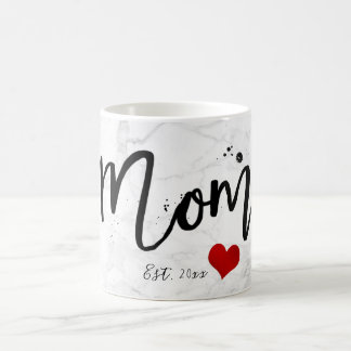 PixDezines NEW MOM Marble+Modern Script Coffee Mug
