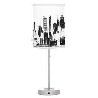 PixDezines New York skyline Desk Lamps