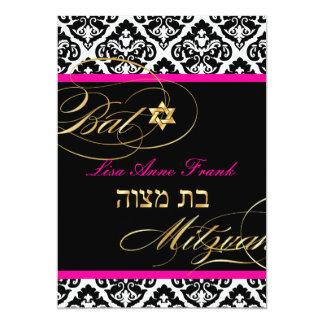 PixDezines Olivia Damask, Bat Mitzvah/ DIY color Card