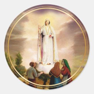 PixDezines Our Lady of Fatima Classic Round Sticker