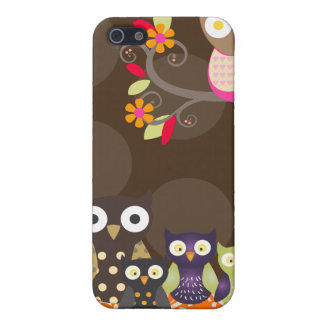 PixDezines Owl/pink+orange/DIY background color iPhone 5 Cover