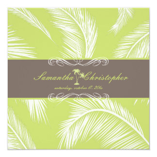 PixDezines Palm Fronds, Cocoa+Lime Card