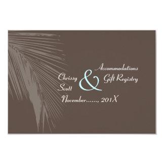PixDezines palm fronds silhouette/cocoa+blue/hotel Card