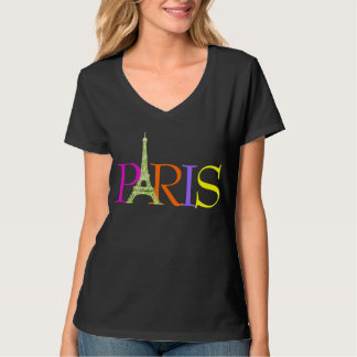 PixDezines paris, faux glitter eiffel tower T-Shirt